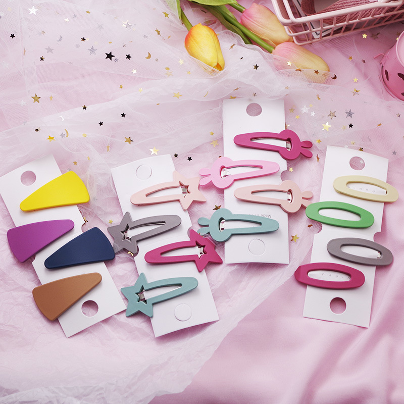 Kids Headwear 4 PCS Children Hair Accessories Baby BB Clips New Lovely Star Rabbit Candy Color Girls Hairpins Hair Clip