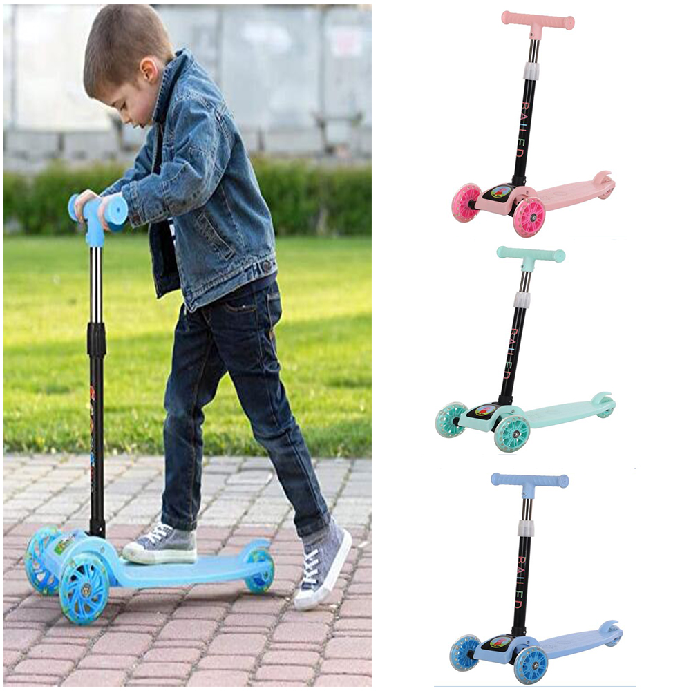 Children's Scooter Kids Scooter 3 In 1 Balance Bike Children's Tricycle Scooter for Kids Ride On Toys Flash Folding Baby Car