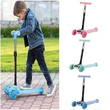 Children's Scooter Kids Scooter 3 In 1 Balance Bike Children's Tricycle Scooter for Kids Ride On Toys Flash Folding Baby Car ride on tricycle kids balance bike portable baby bicycle stroller tricycle scooter learning walk with pedals
