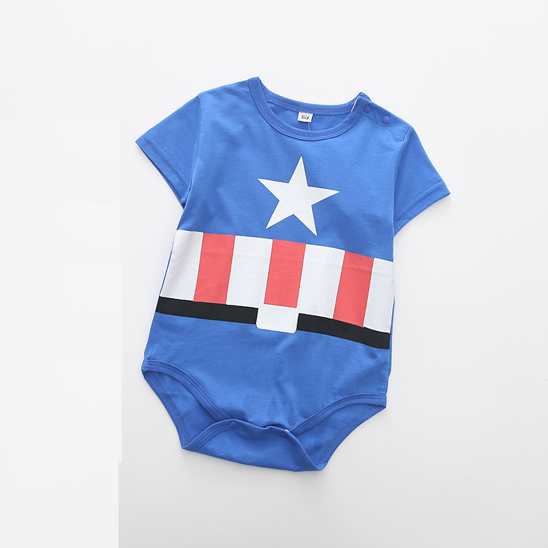 100% Cotton Newborn Baby Summer Baby Girl Clothes Baby Boy Rompers Baby Rompers Cartoon ropa bebe Clothing Short Sleeve 4