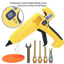 500W High Temperature Glue Gun Adjustable Temperature Fast Glue Gun for 11mm Glue Sticks Industrial Professional Hot Glue Gun