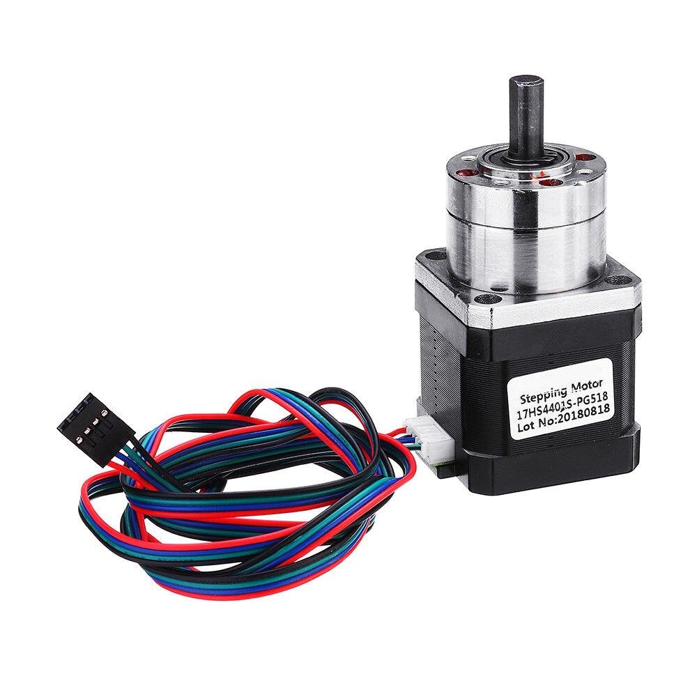 17HS4401S PG518 4 Lead Nema17 Stepper Motor 42 Motor Extruder Gear Stepper Motor Ratio 5.18:1 Planetary Gearbox Nema 17|3D Printer Parts & Accessories| |  - title=