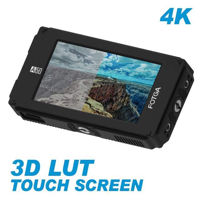 FOTGA A50TLS 5 بوصة FHD فيديو على الكاميرا جهاز المراقبة الميدانية IPS شاشة تعمل باللمس SDI 4K HDMI المدخلات/الإخراج ثلاثية الأبعاد LUT ل A7S II GH5