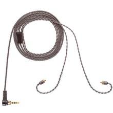 ALO ses dumanlı Litz kablo HIFI kulaklık dengeli kablo yeni 4 Strand gümüş kaplama bakır MMCX 3.5mm tak kulaklık kulaklık