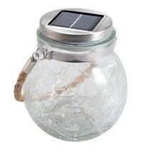 Solar Crack Hanging Light Round glass jar lamp Outdoor courtyard decoration tree lamp copper wire lamp недорого