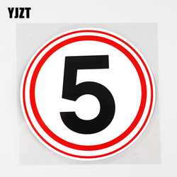 YJZT 10.5CM×10.5CM Traffic Signs Speed Limit 5 km Decal WARNING PVC Car Sticker 12C-0027