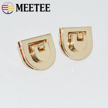 2/5pcs 21x20mm Women Bag Metal Clasp Turn Lock Mortise Locks Snap Purse Buckles Clasps Closure DIY Hardware Accessories