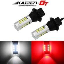 Duplo cor branco & vermelho 7440 w21w t20 carro led t25 3156 lâmpadas 1156 p21w 7506 para backup reverso luz & traseira nevoeiro/4th luz de freio