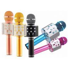 Portable National Karaoke Microphone Mobile Phone Karaoke Wireless Condenser Microphone Audio Machine. цена 2017