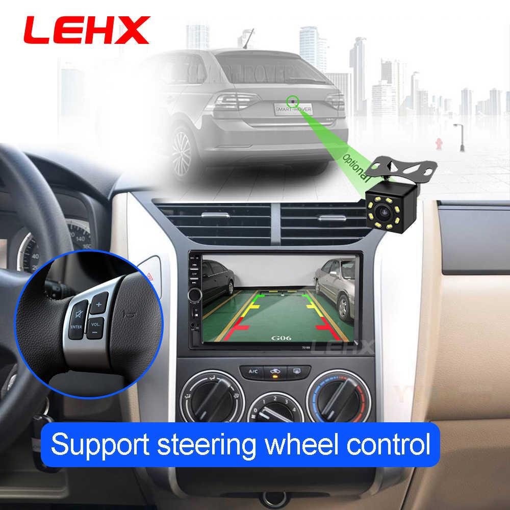 2DIN araba radyo araba multimedya Video oynatıcı Android telefon ve IPhone için ayna bağlantı Volkswagen Nissan Hyundai kia toyota