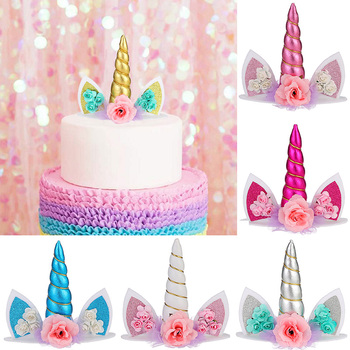 Unicorn Cake Topper Unicorn Birthday Party Decorations Kids Unicorn Party Decor Unicorn Party Supplies Baby Shower Cake Toppers unicorn cake cupcake wrappers cake toppers baby shower kids unicornio birthday party decorative supplies unicorn party 12pcs