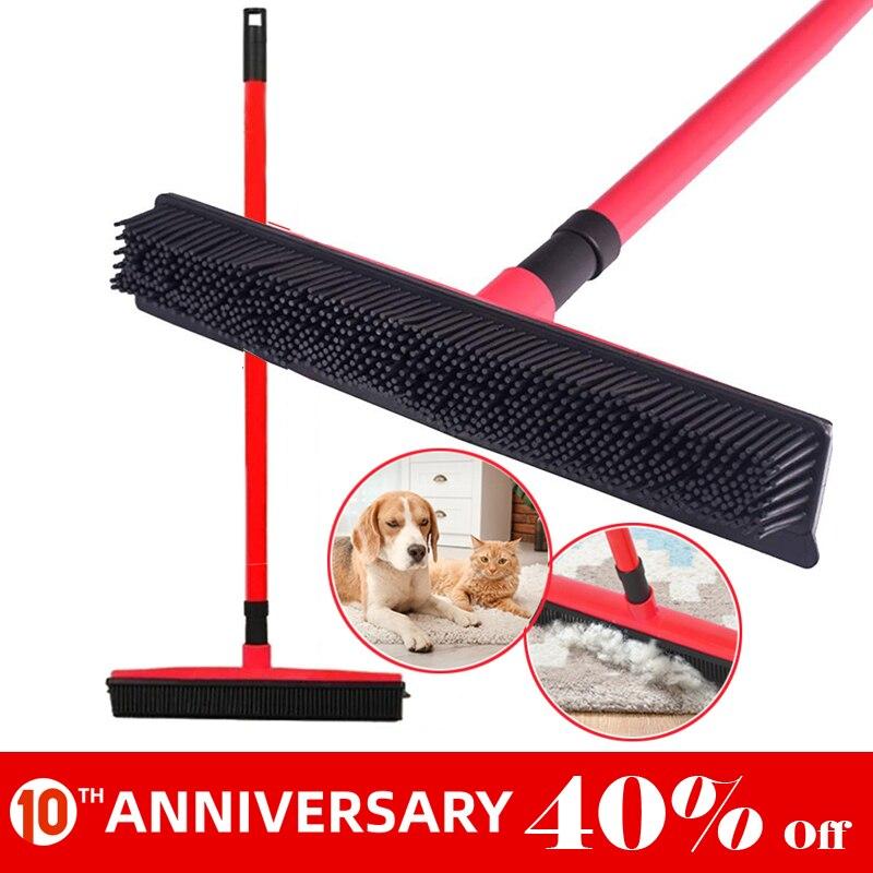 UNTIOR Multifunctional Telescopic Broom Magic Rubber Besom Cleaner Pet Hair Removal Brush Home Floor Dust Mop & Carpet Sweeper