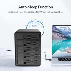 Image 5 - ORICO 95 Series 5 Bay 3.5 USB3.0 HDD Docking Station Support RAID Mode Aluminum With 150W Internal Power Adaper 80TB(5 x 16TB)