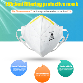 20PCS NIOSH N95 Masks US Standard  Anti-fog Haze Dust-proof Face Masks  N95 for Exhaust Gas Allergies Pollen PM2.5 4