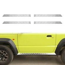 רכב גוף צד חצאית שפשוף מגן דוושה מוזמן כיסוי מדבקה עבור סוזוקי JIMNY 2019 2020 JB74 כרום לקצץ