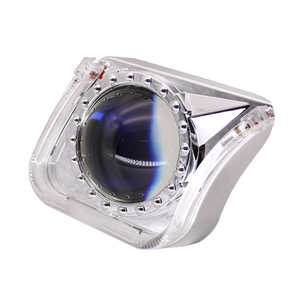 Image 4 - TAOCHIS YT140 3.0 inches bi xenon LED projector lens shroud DRL car headlights angel eyes white red blue yellow color