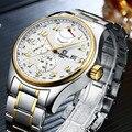 Karneval Top Marke luxus Automatische Männer Uhr Herren Mechanische Edelstahl Uhren Mann Wasserdicht Goldene Armbanduhren Relogio