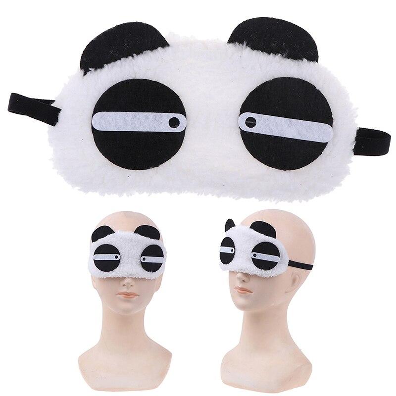Health Care Cute Face White Panda Eye Mask Eyeshade Shading Sleep Cotton Eye Mask Sleep Mask Eye Cover New