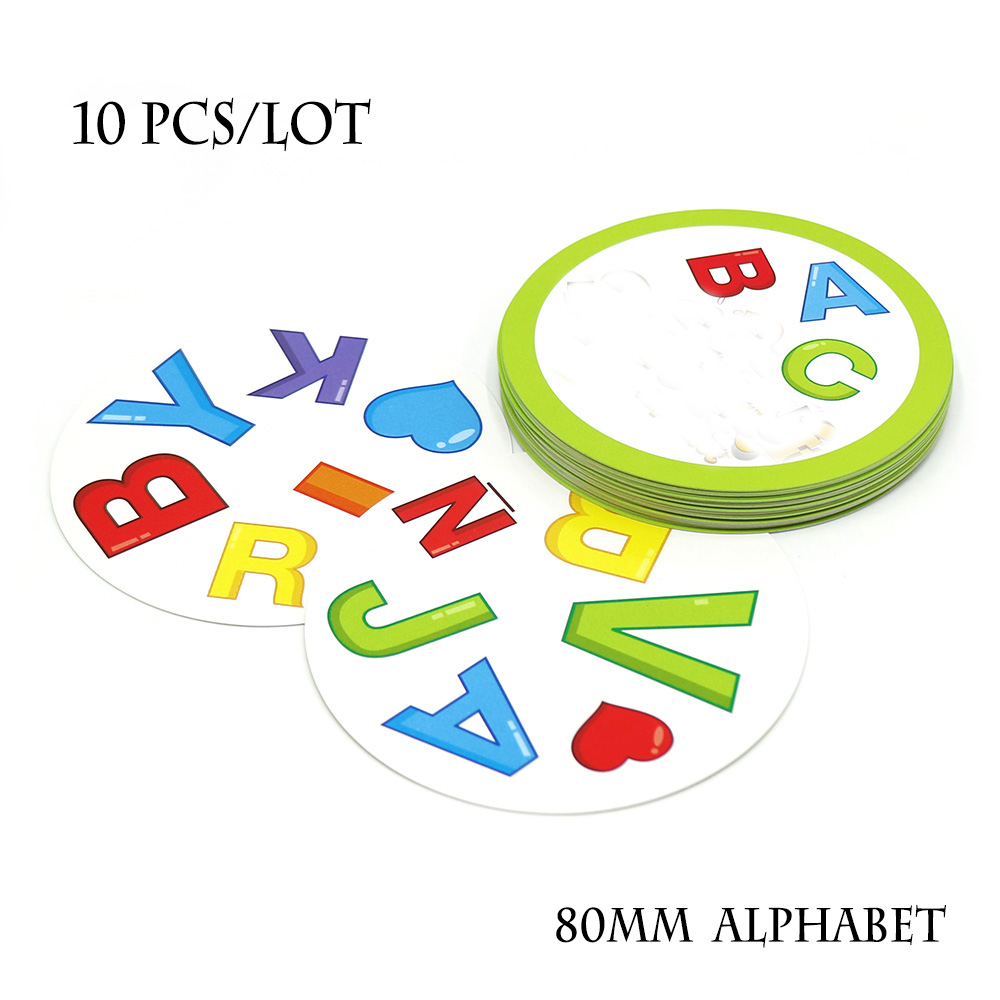 Wholesale 10 Pcs/lot Spot Alphabet Cards Game For Kids Learning Alphabet English Pair It Dobble Family Fun Board Games