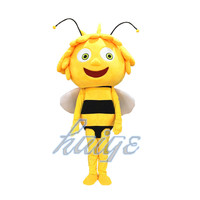 New bee Mascot Costume yellow Bees mascot Adult Character Costume Cosplay adult size For Halloween Carnival party