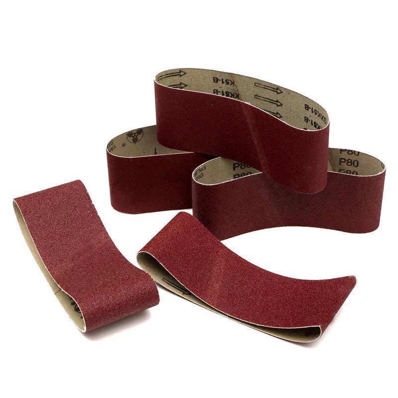 5 X Sanding Belts 75X457 MM Mixed Grade 60 80 120 240 Grit Power Tool Sander LOT