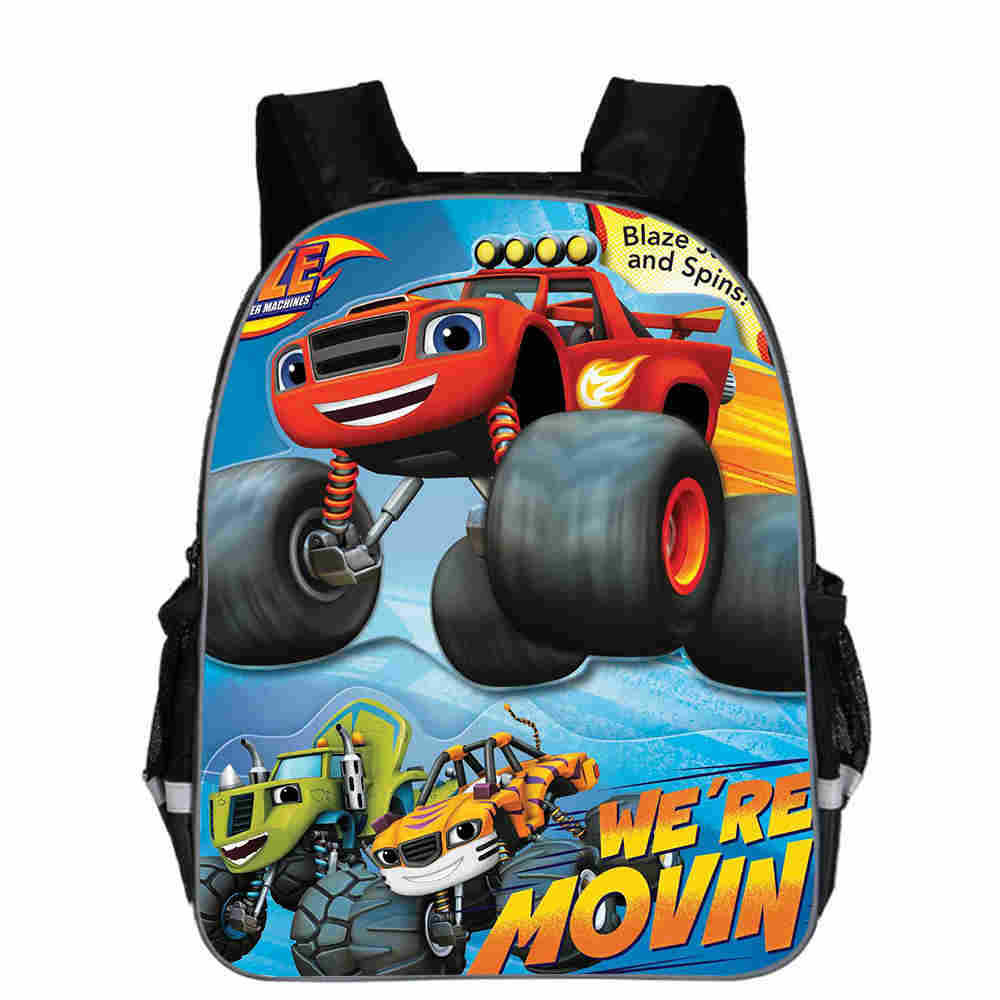 Teenager Cartoon Blaze And The Monster Machine Print Backpack Boys School Bags Primary Backpack Schoolbags For Boys Mochilas