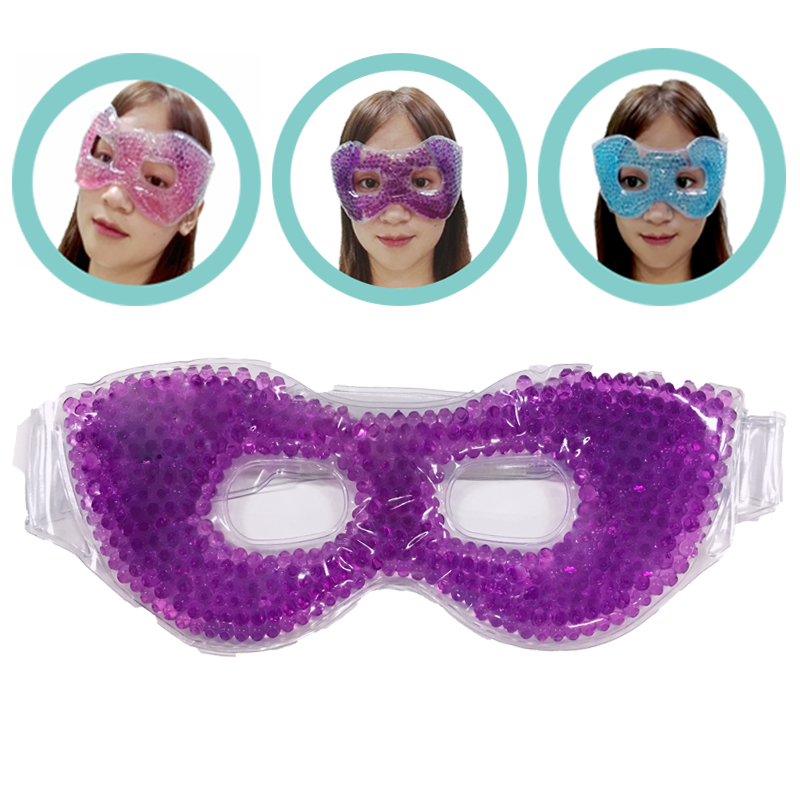 Cooling Gel Eye Mask With Eye Holes Hot Cold Therapy Personal Care Beauty Sleeping Eye Mask For Puffy Dry Eyes Ergo Gel Bead