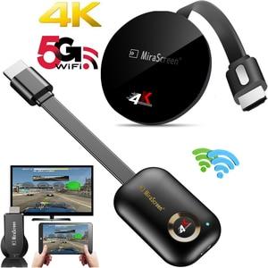 Image 1 - 2.4G/ 5G 4K اللاسلكية واي فاي النسخ المتطابق كابل HDMI محول 1080P عرض دونغل آيفون سامسونج شاومي هواوي أندرويد الهاتف إلى التلفزيون