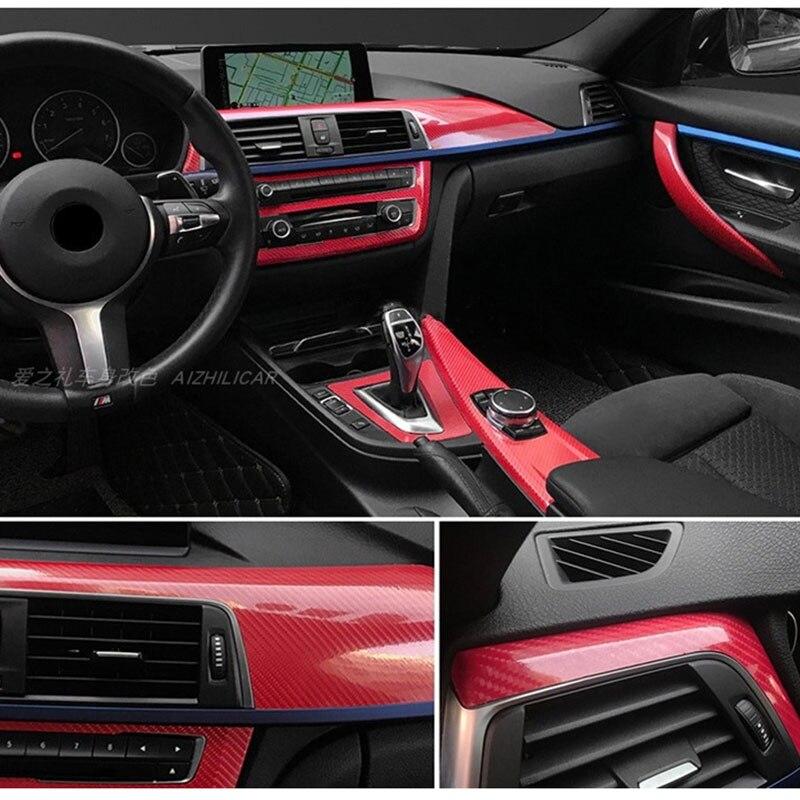 Evidenziare 5D Rosso In Fibra di Carbonio di Colore Pellicola Liscia Auto Adesivi In Fibra di Carbonio Interni Stagnola Autoadesivo Dell'automobile della Pellicola Del Vinile Per I Fari