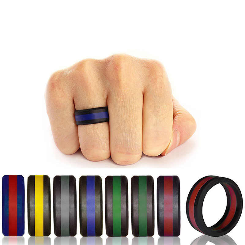 2019 New Food Grade FDA Silicone Finger Ring Engagement Hypoallergenic Crossfit Flexible Silicone Rings For Men Women