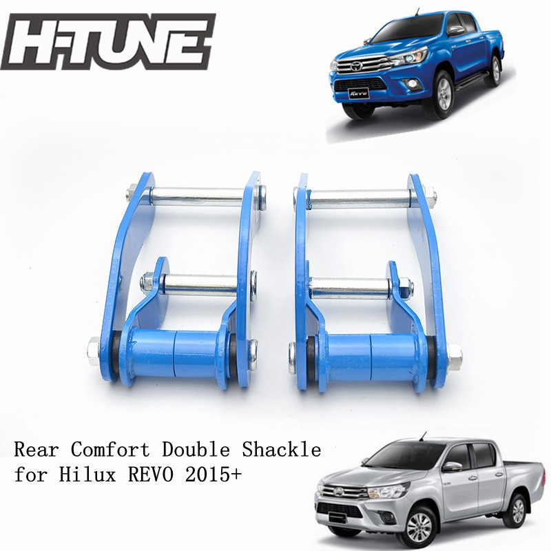 H TUNE 4x4 Suspension Spring Rear Comfort Double G Shackles for Hilux REVO 2015
