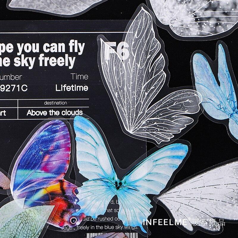 30 teile/los Cosmic Blase Serie Dekorative Schreibwaren PET Aufkleber nette schmetterling Scrapbooking DIY Tagebuch Album Stick Label