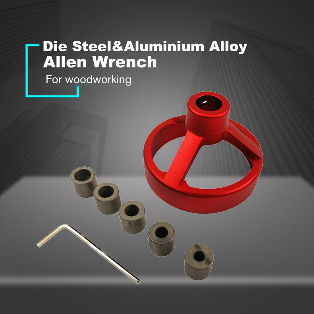 Drill Guide Woodworking Hole Puncher Vertical Drilling Fixture Wood Working Locator Tools 6//7/8/9/10mm Drill Bushing