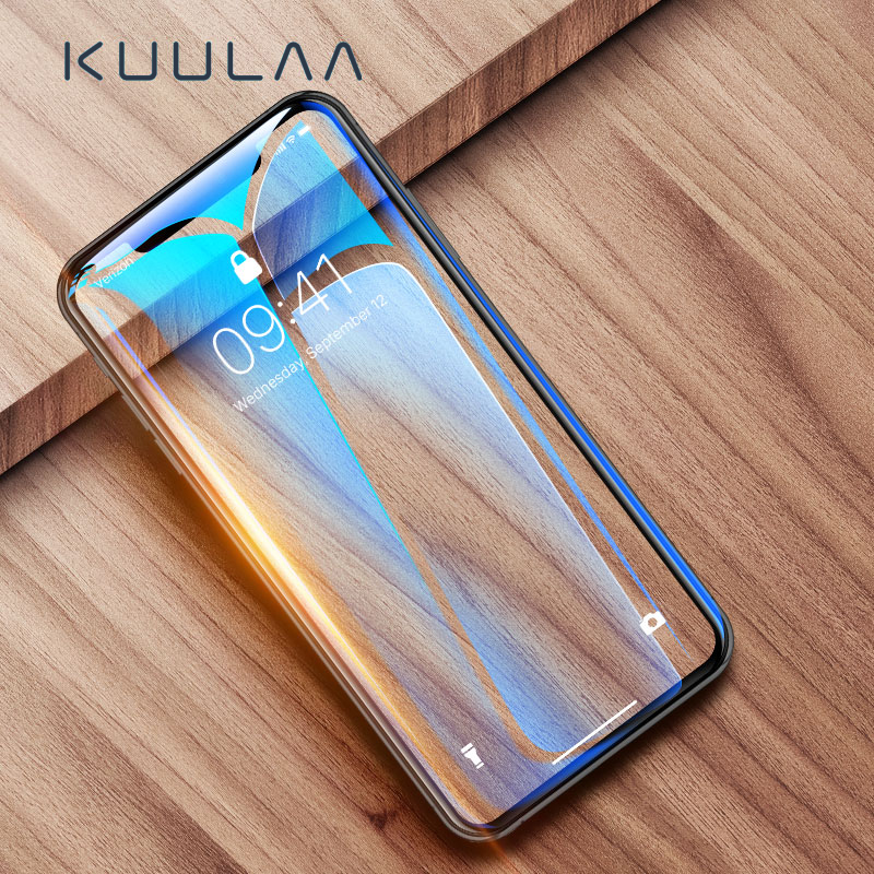 KUULAA Screen Protector Tempered Glass For IPhone XS Max XR X S R XSMAX Protective Glass Film Cover For IPhoneXS IPhoneX