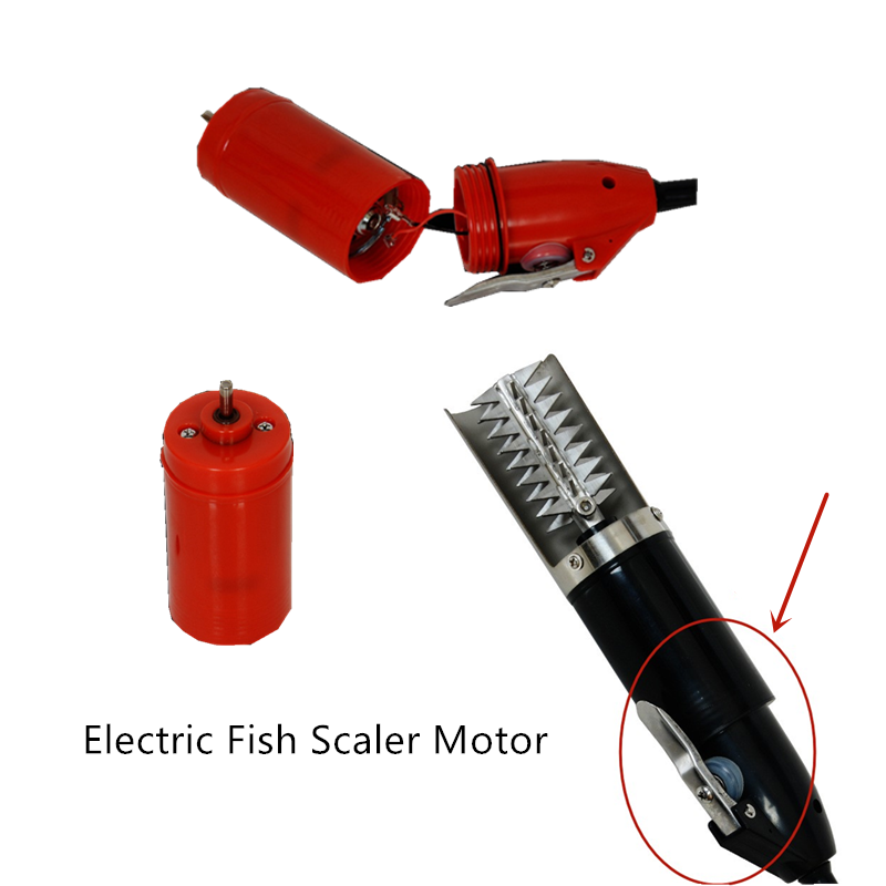 Portable Electric Fish Scaler Motor Fishing Scalers Motor Clean Fish Remover Cleaner Descaler Scraper Motor