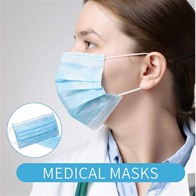 20Pcs/Pack Disposable mask Flu Hygiene Face Mask3-Layer Non-woven Disposable Elastic Mouth Soft Breathable as  KF94