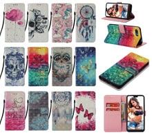 Moda Pintado Casos de Telefone Para Samsung Galaxy A80 3D A60 A90 A20e A10e Nota 10 Pro Plus M40 Leather flip carteira Saco Do Telefone Tampa