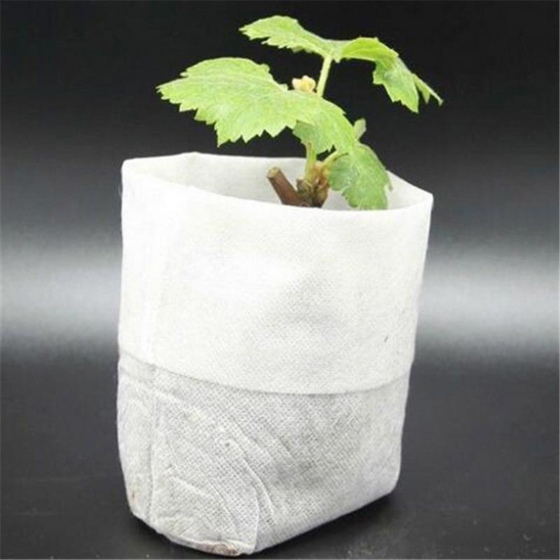 Useful Mutifution 100 Pcs Nursery Pots Seedling-Raising Bags Non-woven Fabrics Garden Supplies Garden Supplies Environmental