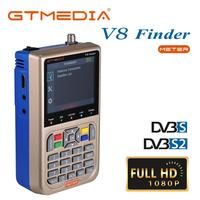 GTMEDIA V8 Finder HD DVB S/S2/S2X Digital Satellite Finder HD H.265 MPEG 4 Satellite Meter Full 1080P FTA Satfinder 3.5inch LCD