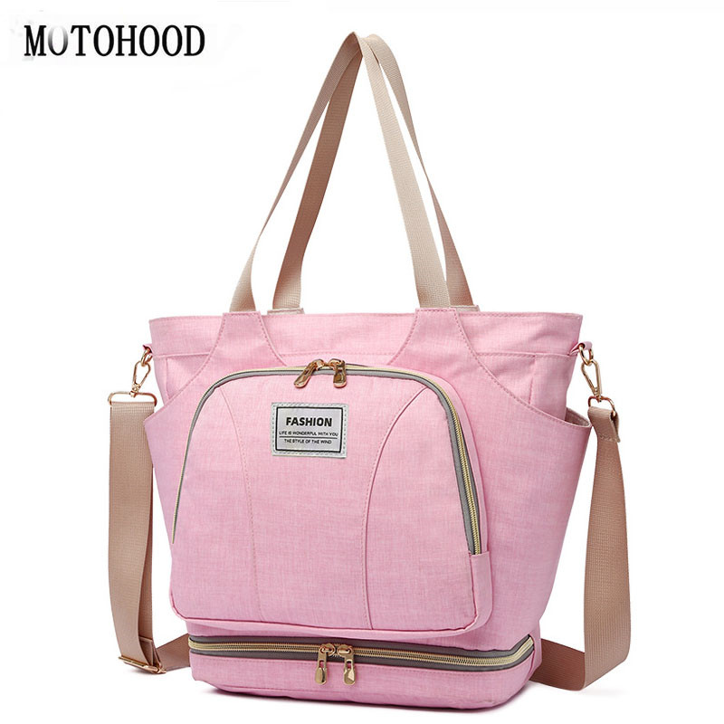 MOTOHOOD Baby Diaper Bag For Mom Organizer Bag Waterproof Mummy Maternity Nappy Bag Large Capacity Infant Bag  Women Bag