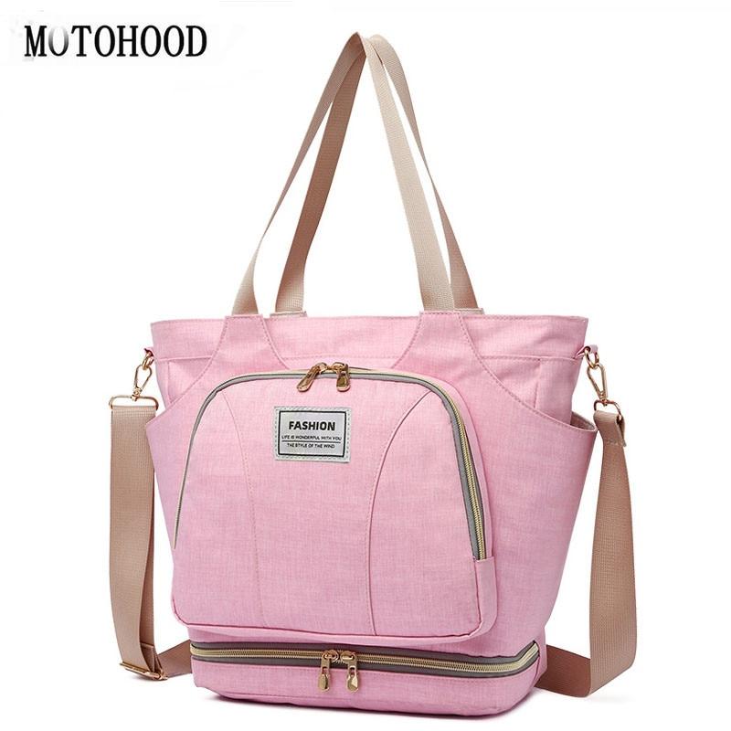 MOTOHOOD Baby Diaper Bag For Mom Organizer Bag Waterproof Mummy Maternity Nappy Bag Large Capacity Infant Bag  Women Bag
