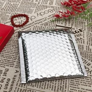 Image 3 - 50pcs CD/CVD Packaging Shipping Bubble Mailers gold paper Padded Envelopes Gift Bag Bubble Mailing Envelope Bag 15*13cm+4cm