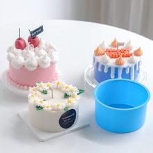 Simulação creme bolo molde de vela forma redonda design vela molde de silicone molde de cereja frutas scented vela que faz