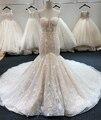 SL-6229 New Arrival Crystal Bling Bling Mermaid Wedding Dresses 2020 Full Beading Bridal Wedding Gowns