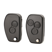 jingyuqin 206 VAC102 Modified Flip Car Key Shell Case 2/3 Buttons for Renault Duster Logan Fluence Clio Kangoo Sandero
