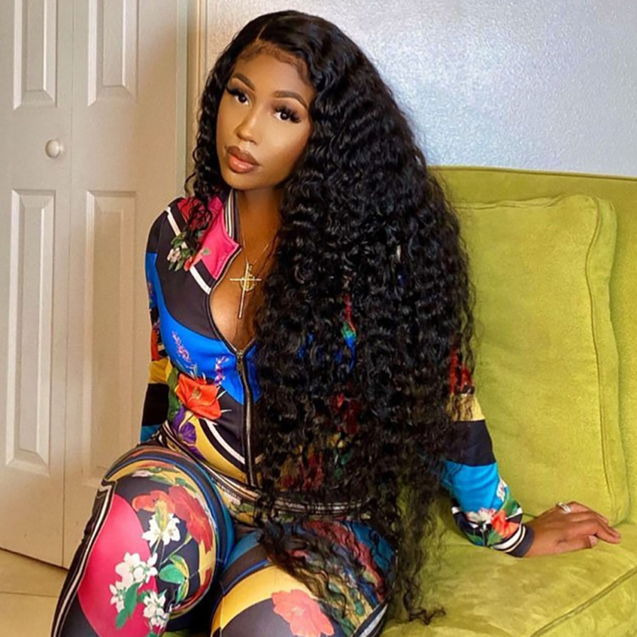 Deep Wave Frontal Wig Curly  Wig   Wigs  Bob 30 Inch Water Wave Lace Front Wig 3
