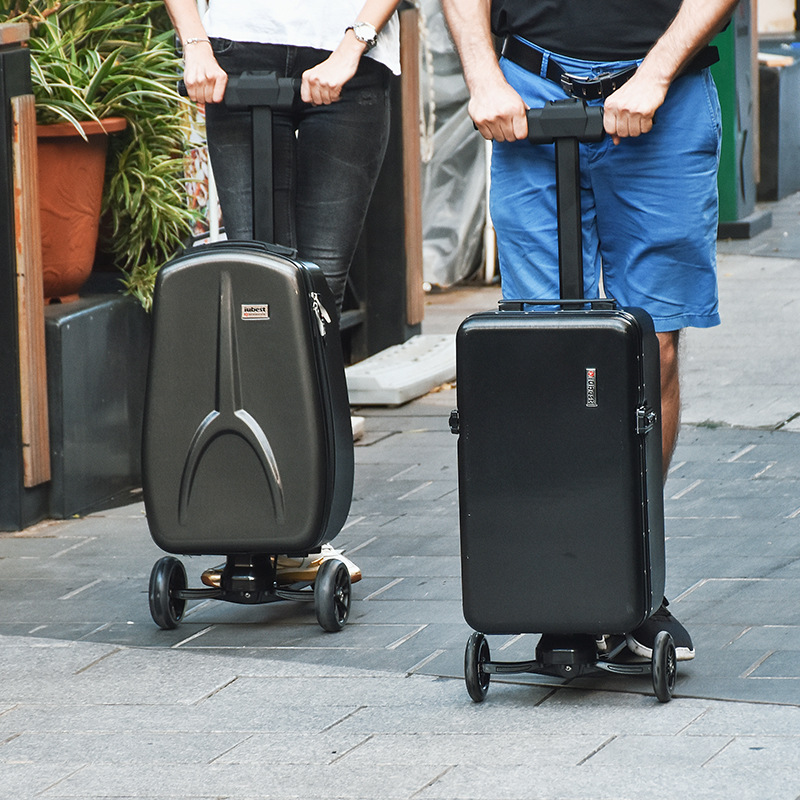 Smart Electric Scooter 2019 New 22 Inch Multi-function Scooter Luggage High-end Carry On Luggage Suitcases Scooter Luggage Set