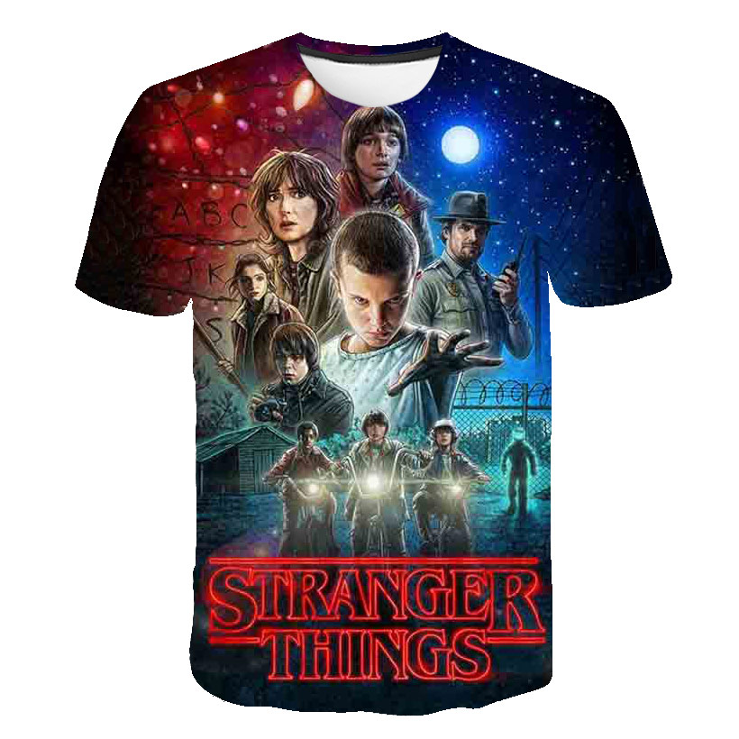 2020 Summer 3D Cartoon Stranger Things T Shirt Boys Clothes Off White Casual Shirt Harajuku Hip Hop Kids Clothes Streetwear Tops