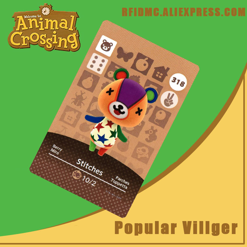 318 Stitches Animal Crossing Card Amiibo For New Horizons