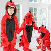 Kleinkind Junge Kleidung Dinosaurier Pyjamas Set Tier Cartoon Kinder Kleidung Winter Flanell stich Pyjama Baby Nachtwäsche Für Jungen Pyjama